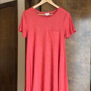 Watermelon pink dress